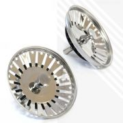 Pair of Kitchen Sink Basin Strainers